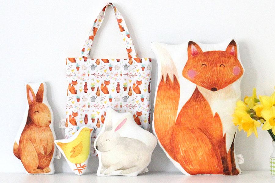 I cuscini illustrati di The Fox In The Attic