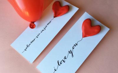 San Valentino: biglietto con palloncino cuore