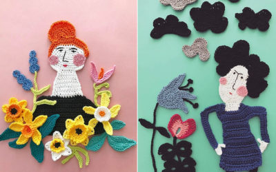 Illustrazioni all'uncinetto di Tuija Heikkinen