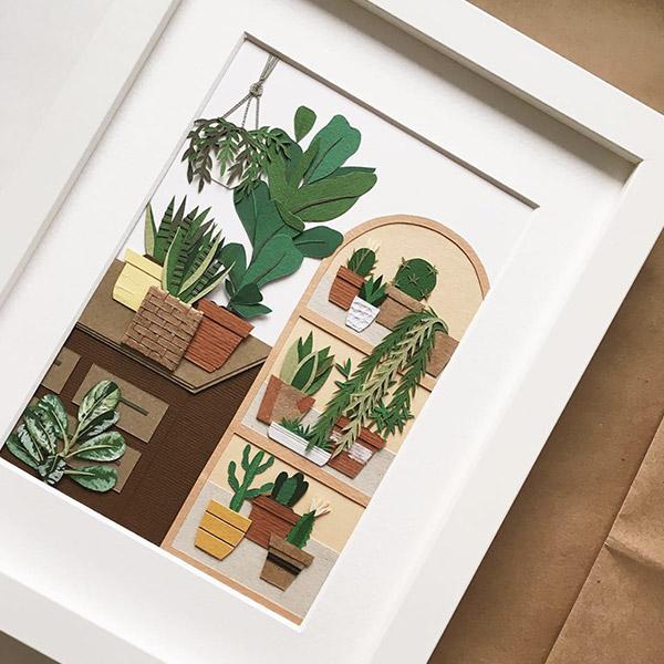 quadro piante carta