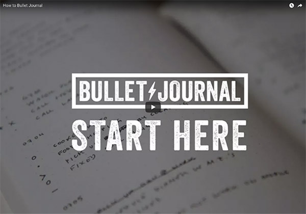 video bullet journal