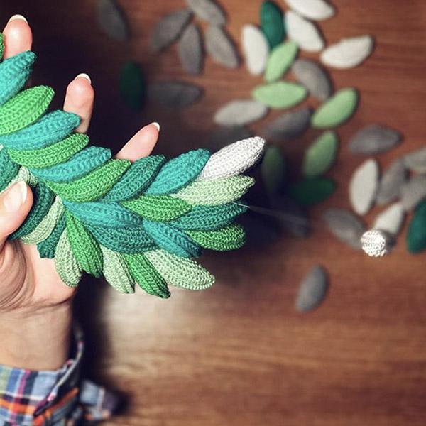 foglie uncinetto