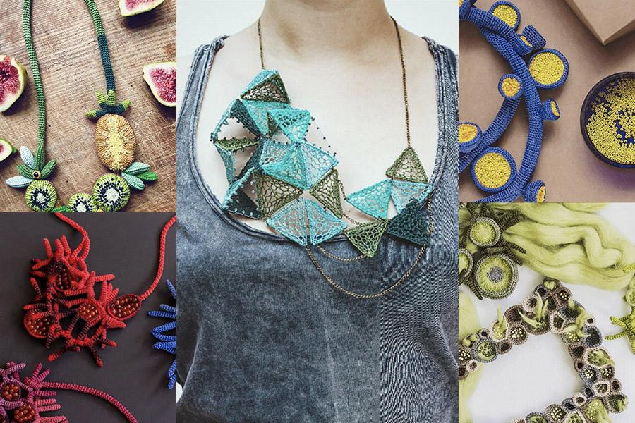 I gioielli all'uncinetto di Lidia Puica